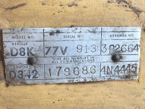 d8k - trator esteira cartepillar 1974 = d8k d8h d8t d8r