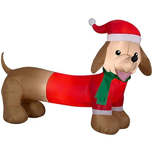 dachshund weiner dog air soplado inflable decoración