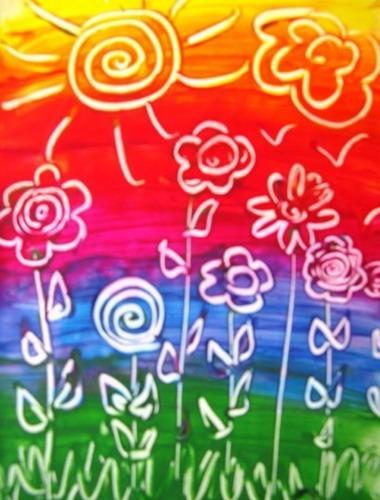 dactilo pintura de colores puros tubo x6 + pincel