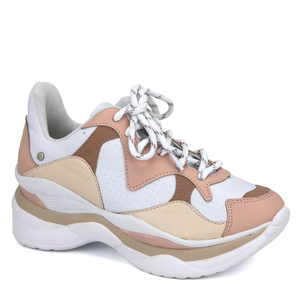 a969231fa dad sneaker feminino sola alta tanara t3081 branco/nude. Carregando zoom.