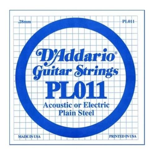 daddario pl011 cuerda de guitarra suelta acustica electrica