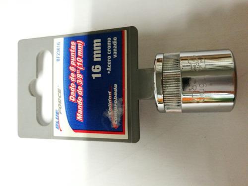 dado de 6 puntas mando de 3/8  (10mm) de 16mm