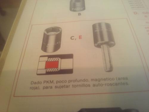 dado magnetico 6 ptas proto 1/4 (p/tornillos autorroscantes)