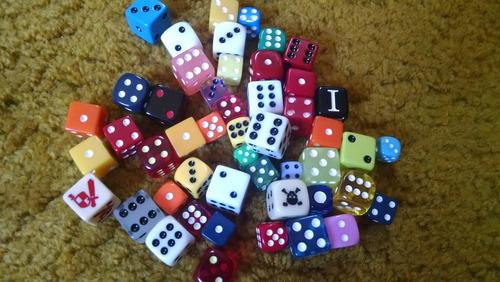dados 6 lados para rpg e jogos de tabuleiro-kit com 6 peças