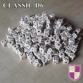 Dados Clásicos D6 Seis Caras Blanco Al Detal 16mm