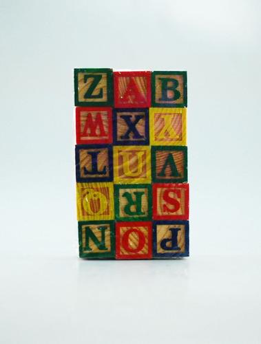 dados cubos de madera para niños juego didáctico letras