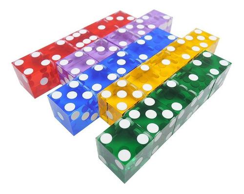 dados de casino de 19 mm con los bordes de los números de se