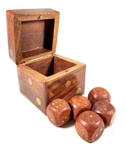 dados jogo indiano madeira entalhada a mão importada