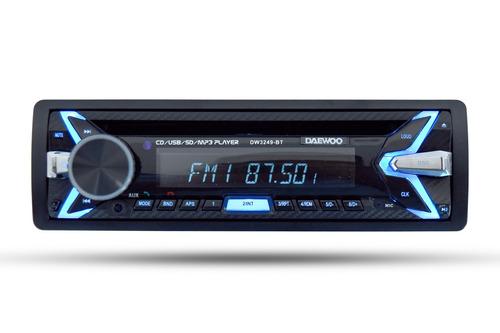 daewoo autoestereo bluetooth cd usb mp3 player dw-3249bt /e
