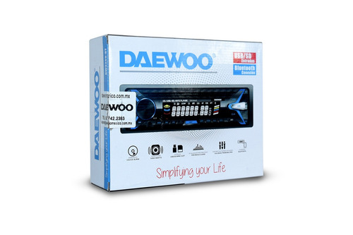 daewoo autoestereo bluetooth cd usb sd mp3 player dw-3249 /e
