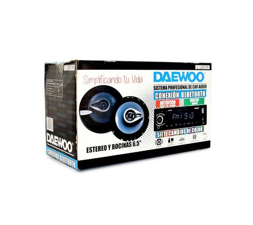 daewoo kit auto estereo bocinas bluetooth usb aux dw65usb