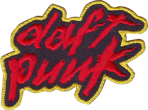 daftpunk rojo/amarillo parche bordado rock bandas música