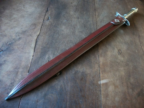 daga o facon caronero hoja 50 cm. acer carbono  cuchillo