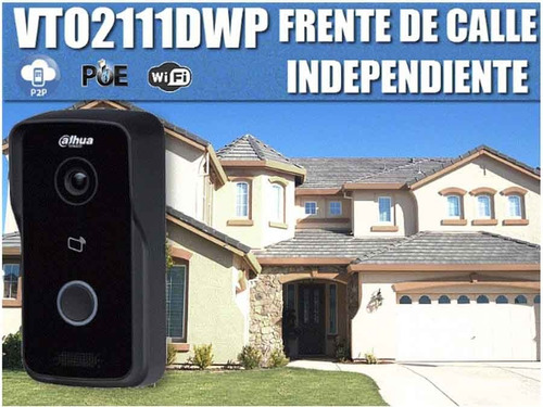 dahua vto2111dwp frente de calle wi-fi exterior p2p poe