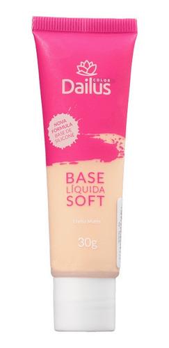 dailus base liquida soft efeito matte 30g - 02 nude