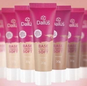 dailus base liquida soft efeito matte 30g - marrom claro