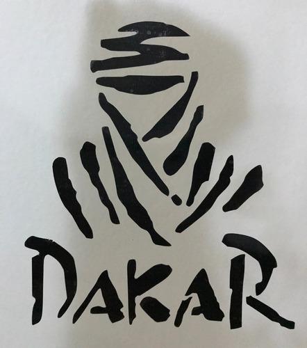 dakar, vinilo adhesivo / 15 x 12 cms / negro o blanco