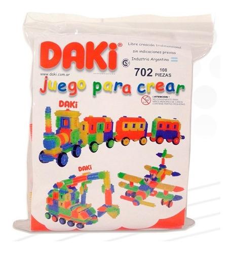 daki 702 bolsa 108 piezas bloques ruedas material didáctico