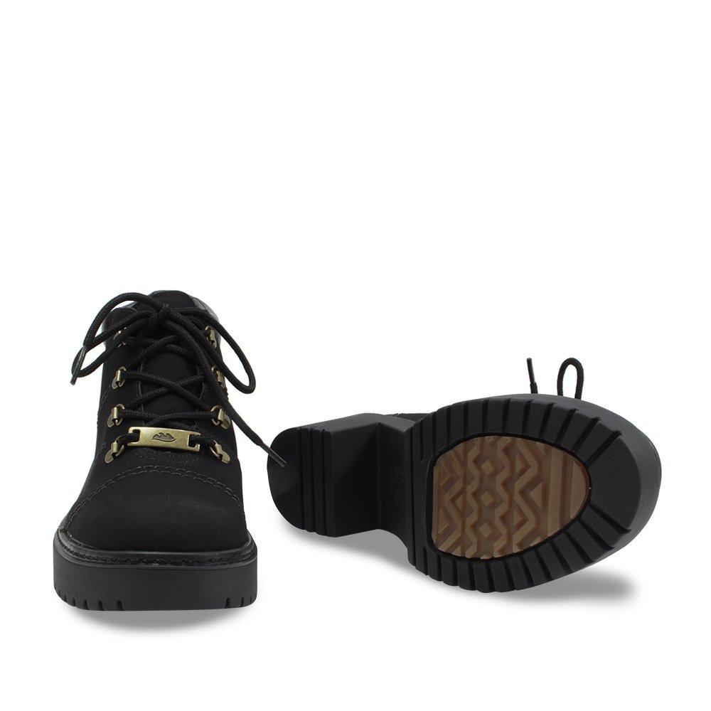 d1ef246165 Sapato Bota Dakota Cano Curto Feminino Tratorada B9924 Preta - R ...