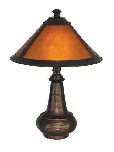 dale tiffany ta hunter lámpara de acento de mica, bronc...