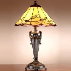 dale tiffany tt101118 falhouse lámpara de mesa, bronce...