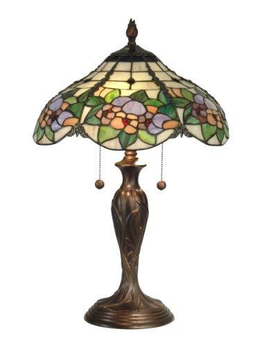 dale tiffany tt90179 lámpara de mesa de chicago, bronce...