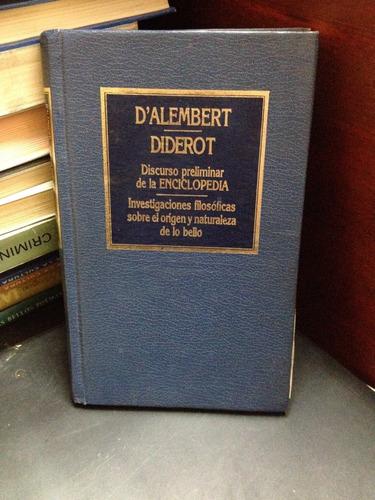 d'alembert:  discurso preliminar. diderot : lo bello .orbis.