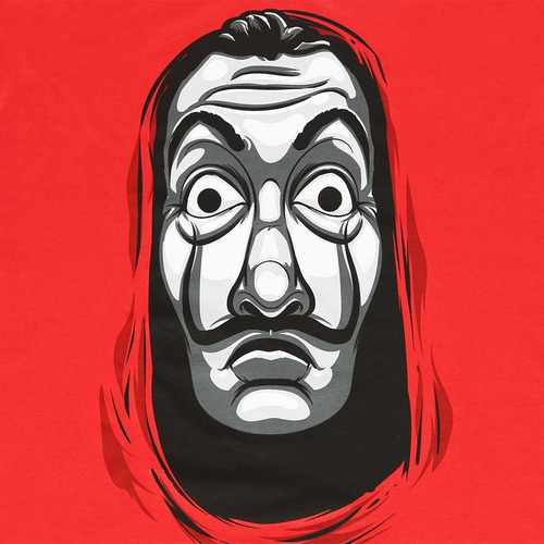 dalí la casa de papel netflix máscara de látex