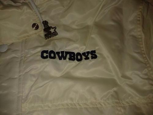 dallas cowboys chamarra starter con teflón grande 1997.