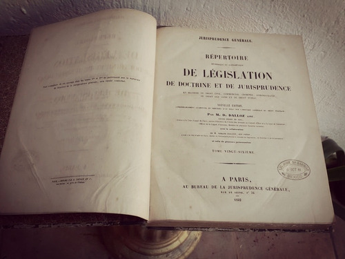 dalloz, libroscolección 1852 y 1853 jurisprudencia general