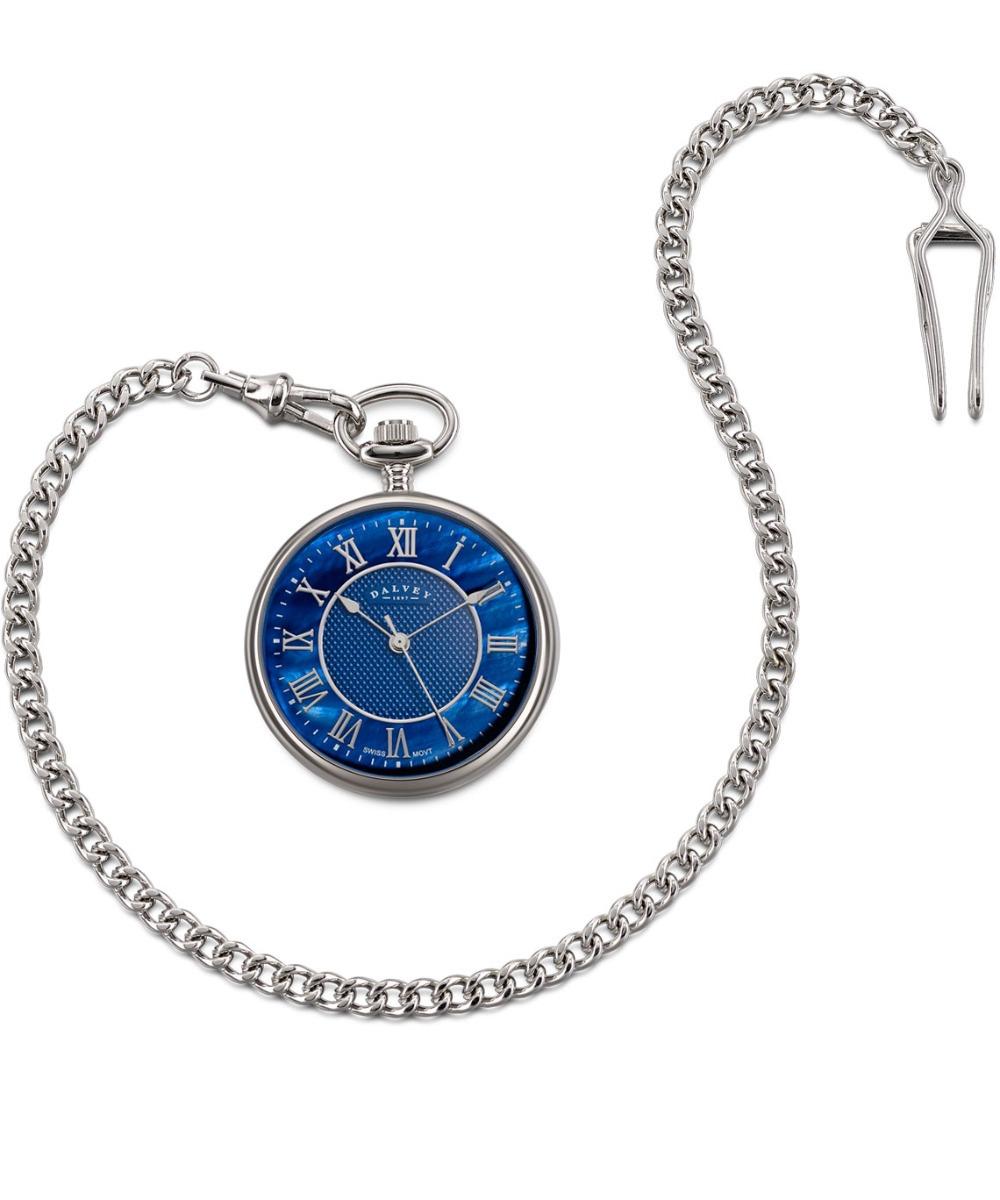 ed34724c97e1 dalvey reloj de bolsillo madre perla azul diego vez. Cargando zoom.