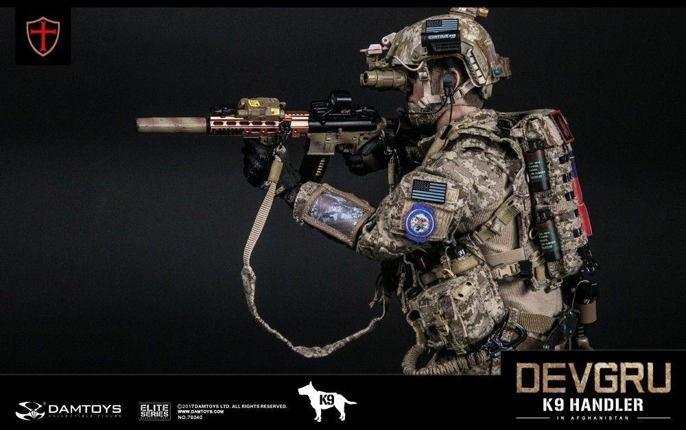 Dam Toys Elite Navy Devgru K9-handler In Afghanist 1/6 Cx