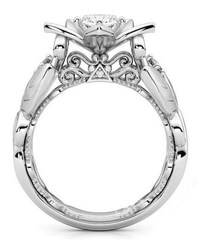 dama alianza moda anillo boda tamaño 10