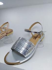 Mujer Dama Zapatos Plateadas Sandalias Estilo Niña Calzado m8NnOPyv0w