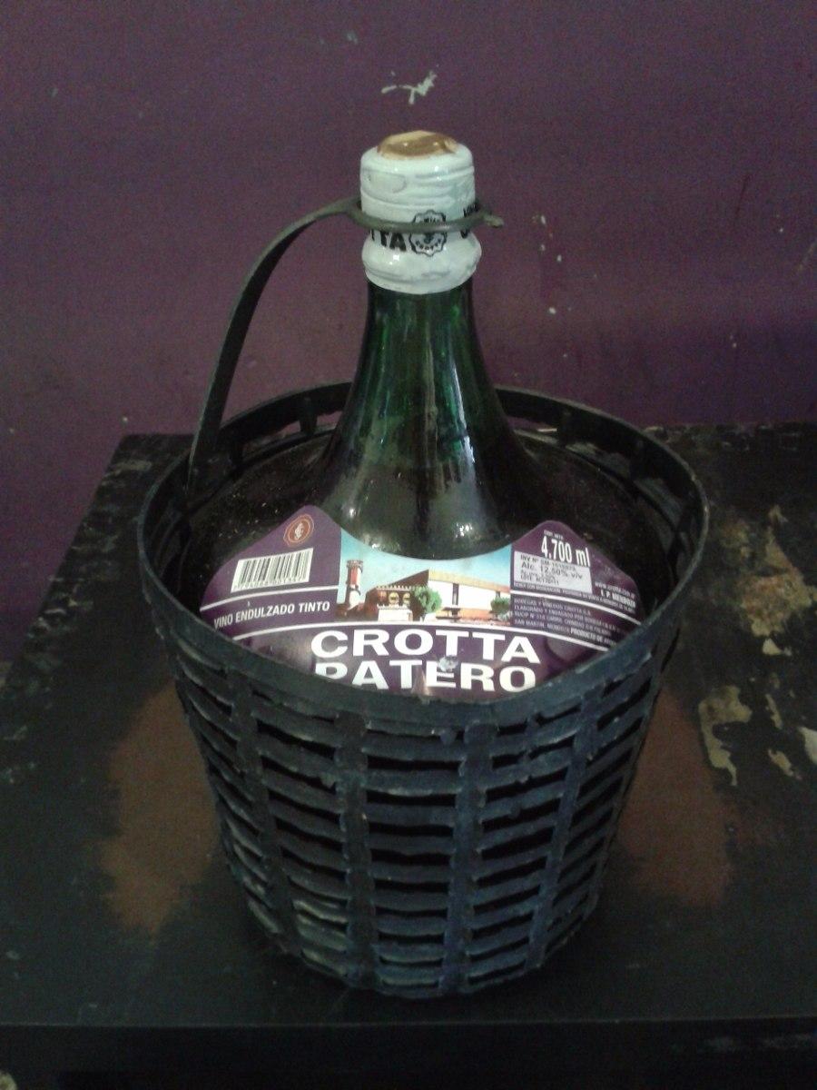 Damajuana Crotta Tinto Patero 4700ml. Avellaneda. - $ 205,00 en Mercado  Libre
