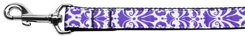 damasco nylon perro correa 4 pies púrpura