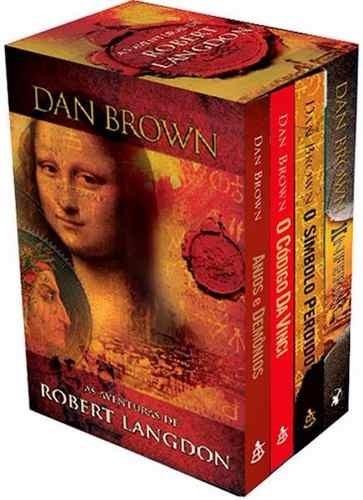 dan brown coleção 4 livros as aventuras de robert langdon