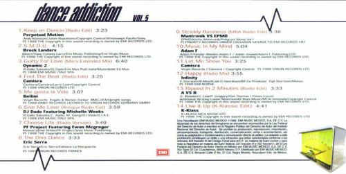 dance addiction vol 5 cd unica edicion 1998  hwo