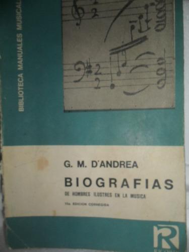 d'andrea biografia musica clasica