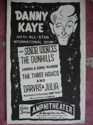 danny kaye en washington programa del año 1956