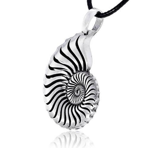 dan's jewellery nautilus shell colgante, joyería fina de pel