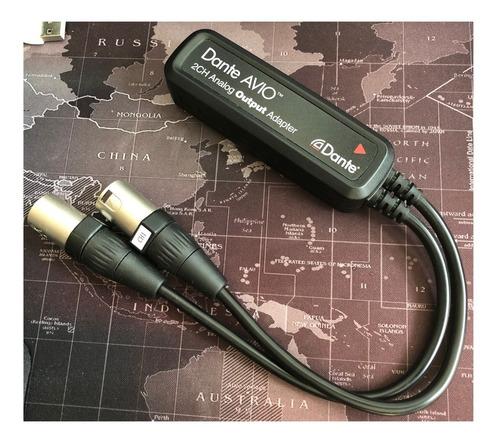 dante avio 2ch analog out adapter