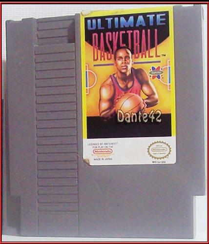 dante42 antiguo cassette nintendo nes ultimate basketba 1985