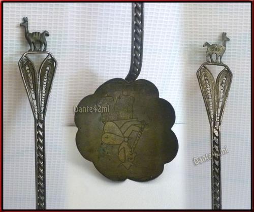 dante42 antiguo cuchara de plaque de coleccion