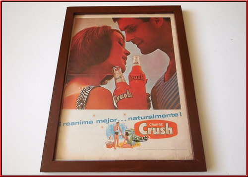 dante42 cuadro publicidad antigua retro gaseosa crush 1965