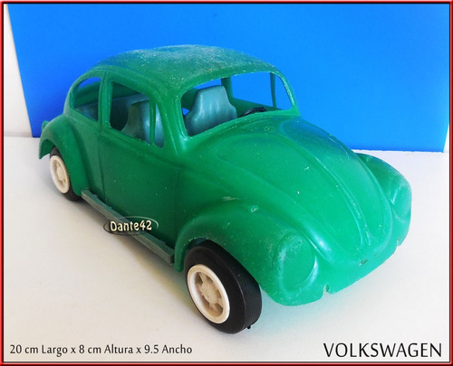 dante42 juguete antiguo plastico volkswagen 1970
