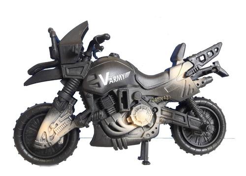 dante42 juguete motocicleta militar combate