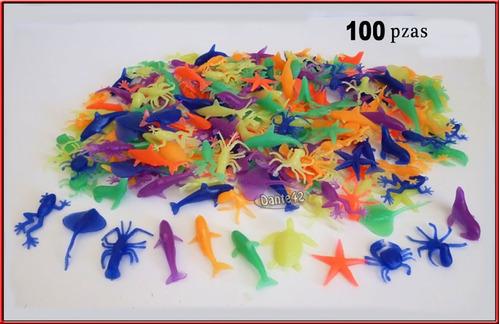 dante42 lote 100 animales acuaticos colecccionables