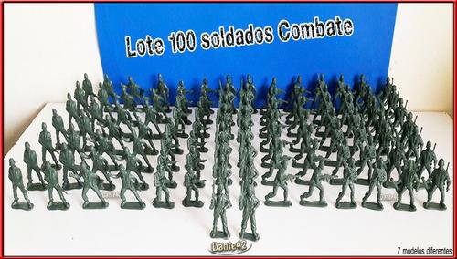 dante42 lote 100 soldados combate plastico