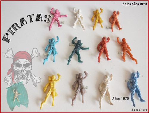 dante42 lote 12 piratas muñecos miniaturas 1970